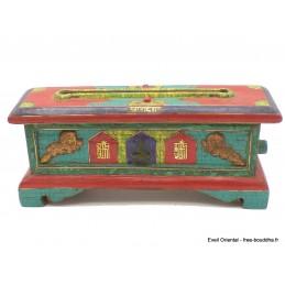 Exclusif brûleur d'encens bouddhiste serti de pierres Brûleurs et porte-encens BEPN1