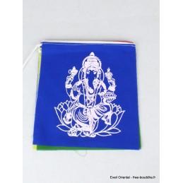 Guirlande de 10 drapeaux tibétains Ganesh Drapeaux tibétains PEA2
