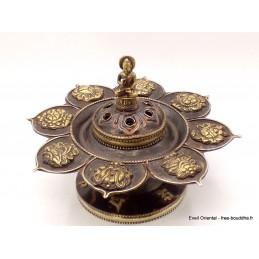 Brûleur d'encens tibétain Lotus Bouddha Brûleurs et porte-encens AA25.2