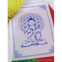 Guirlande de 10 drapeaux tibétains Bouddha Drapeaux tibétains PEA4