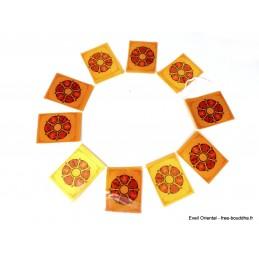 Guirlande de 10 drapeaux tibétains cartonnés Chenrezi Drapeaux tibétains DRACA4