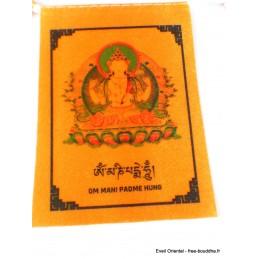 Guirlande de 10 drapeaux tibétains divinités bouddhistes Drapeaux tibétains DRACA5