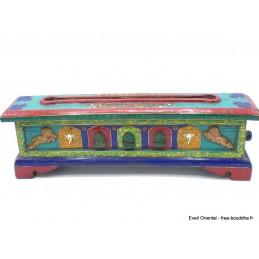 Exclusif brûleur d'encens bouddhiste serti de pierres grand modèle Brûleurs et porte-encens BEPN2