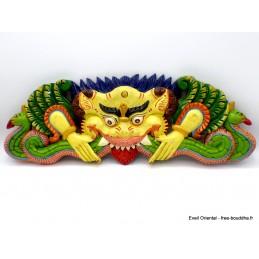 Décoration murale en bois Mahakala Décoration tibétaine CHEP1