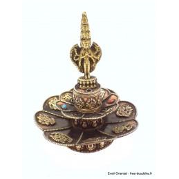 Brûleur d'encens tibétain Lotus Bouddha Thaï Brûleurs et porte-encens AA25.5