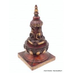 Stupa tibétain temple bouddhiste couleur marron Stupas, temples tibétains STUPA53