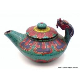 Théière tibétaine Dragon en fonte Artisanat tibétain bouddhiste TH3