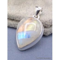 Pendentif goutte Pierre de lune bleue qualité AAA Pendentifs pierres naturelles AW65