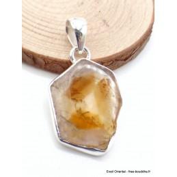 Pendentif en Citrine tranche asymétrique Pendentifs pierres naturelles AW66