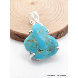 Pendentif Turquoise Sleeping Beauty détail bélière Bijoux en Turquoise AW69.2