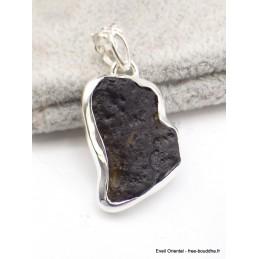 Pendentif Tectite tibétaine serti clos Pendentifs pierres naturelles AW71.1