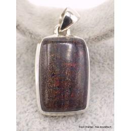Pendentif Opale Andamooka Black Matrix Pendentifs pierres naturelles AW73