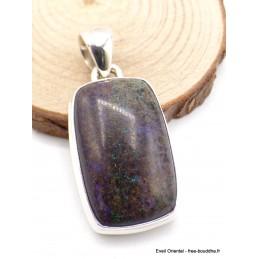 Pendentif rectangulaire Opale Andamooka Black Matrix Pendentifs pierres naturelles AW73.1