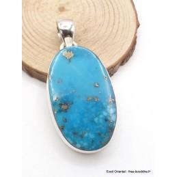 Pendentif en Turquoise avec Pyrite oval Pendentifs pierres naturelles PU54.5