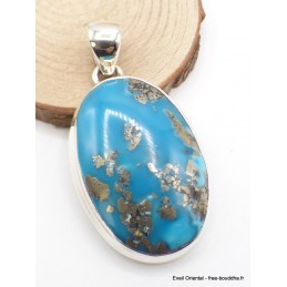 Splendide Pendentif en Turquoise avec Pyrite Pendentifs pierres naturelles PU54.6