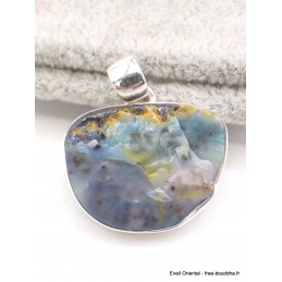 Pendentif Opale Boulder bleu rose Pendentifs pierres naturelles AW77