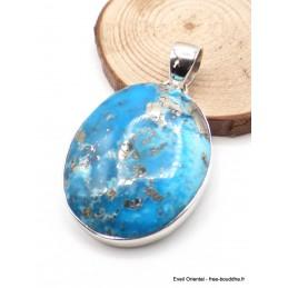 Pendentif en Turquoise avec Pyrite dégradé de bleu Pendentifs pierres naturelles PU54.7