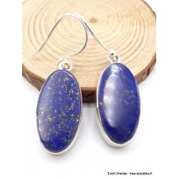 Boucles d'oreilles Lapis lazuli forme ovale Boucles d'oreilles en pierres AW80.1
