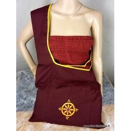 Sac moine tibétain Roue du Dharma sacRD1
