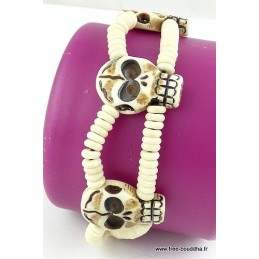Bracelet tibétain TETE DE MORT