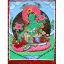 Tangka tibétain peinture Tara Verte tangka tara verte