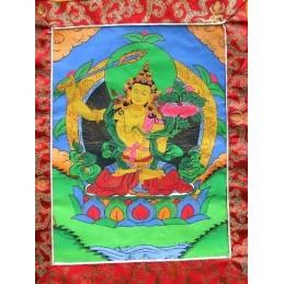 Tangka peinture tibétaine Manjushri