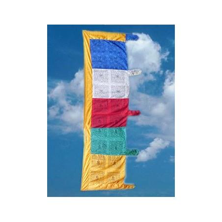 Drapeau tibétain VERTICAL 2 METRES