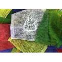 Drapeau de prières 25 drapeaux Grand modèle 15 x 23 cm