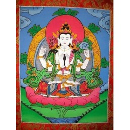 Tangka tibétain Tchenrézi