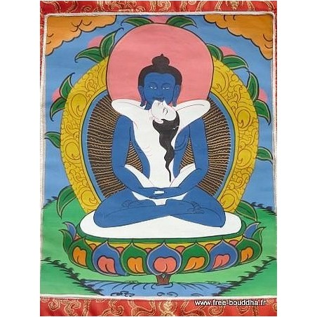 Tangka tibétain Samandrabhadra
