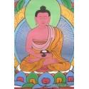 Tangka tibétain Bouddha AMITABHA tangka bouddha rouge