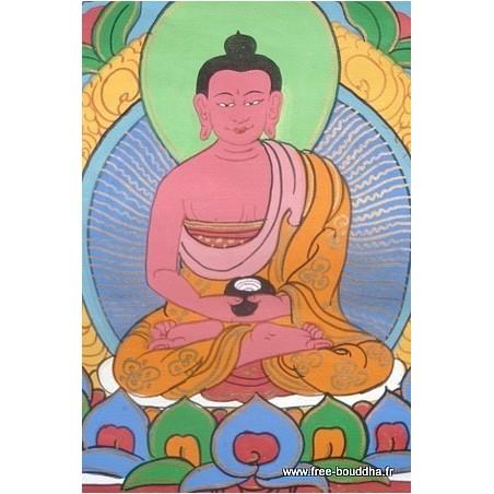 Tangka tibétain Bouddha AMITABHA