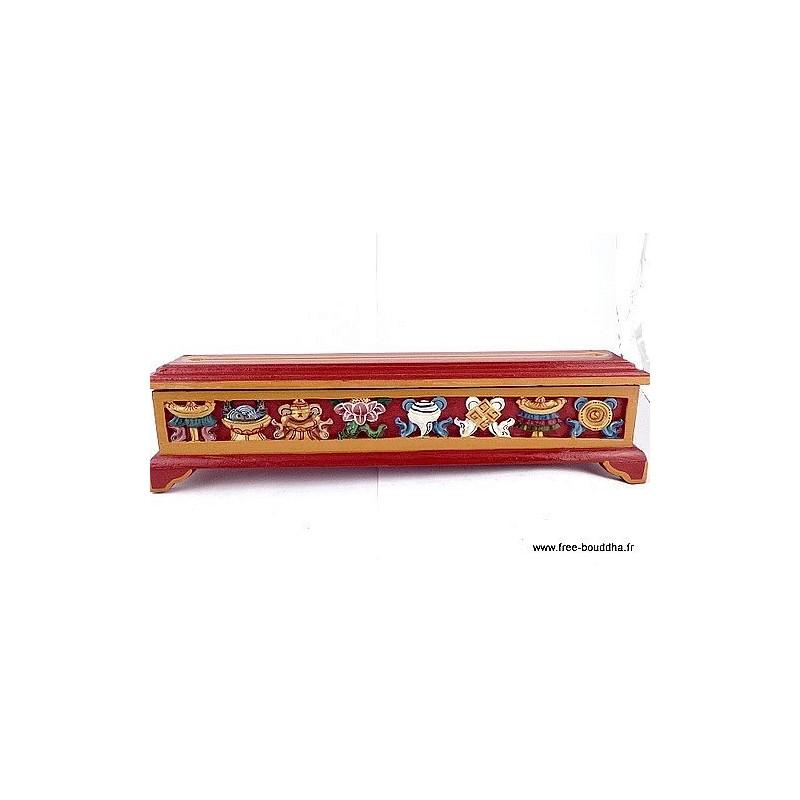 Brûleur d'encens TIBETAIN en bois ref4000