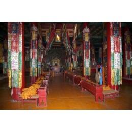 Tenture tibétaine Bannière de Victoire Chukhor bouddhiste 90 cm CHO8