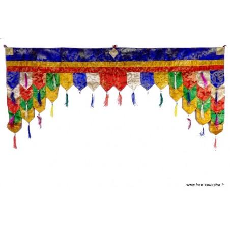 Dessus de porte motif bouddhiste