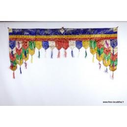 Dessus de porte motif bouddhiste Tentures tibétaines Bouddha PAN3