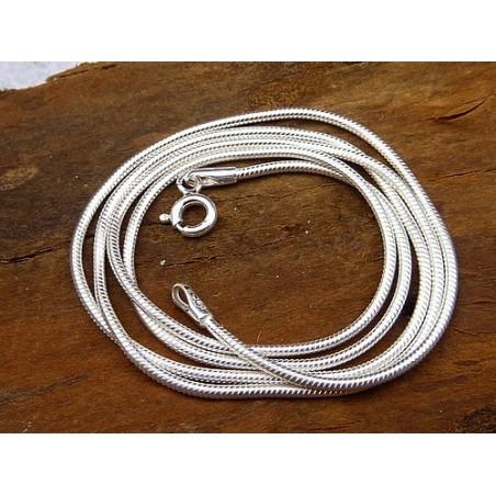 Chaîne serpent en argent 60 cm 1,5 mm