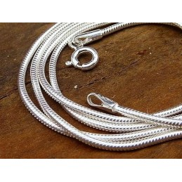 Chaîne serpent en argent 60 cm 1,3 mm Chaînes en argent TUV53