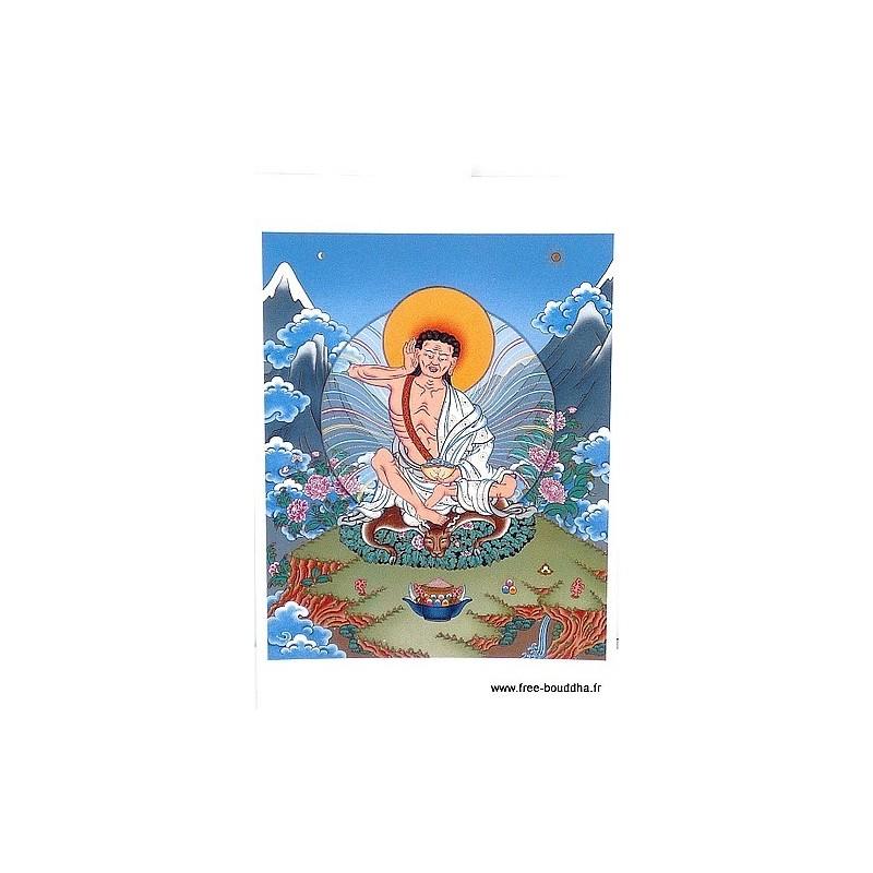 Carte postale bouddhiste MILAREPA CPB25