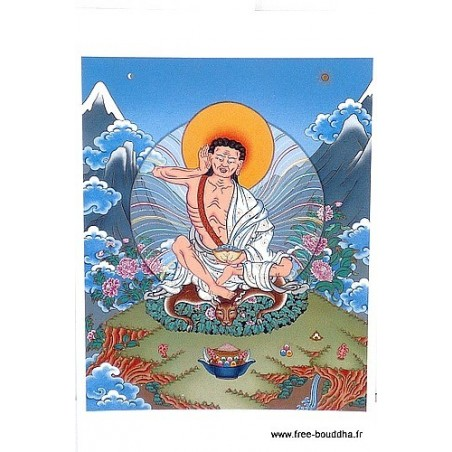 Carte postale bouddhiste MILAREPA