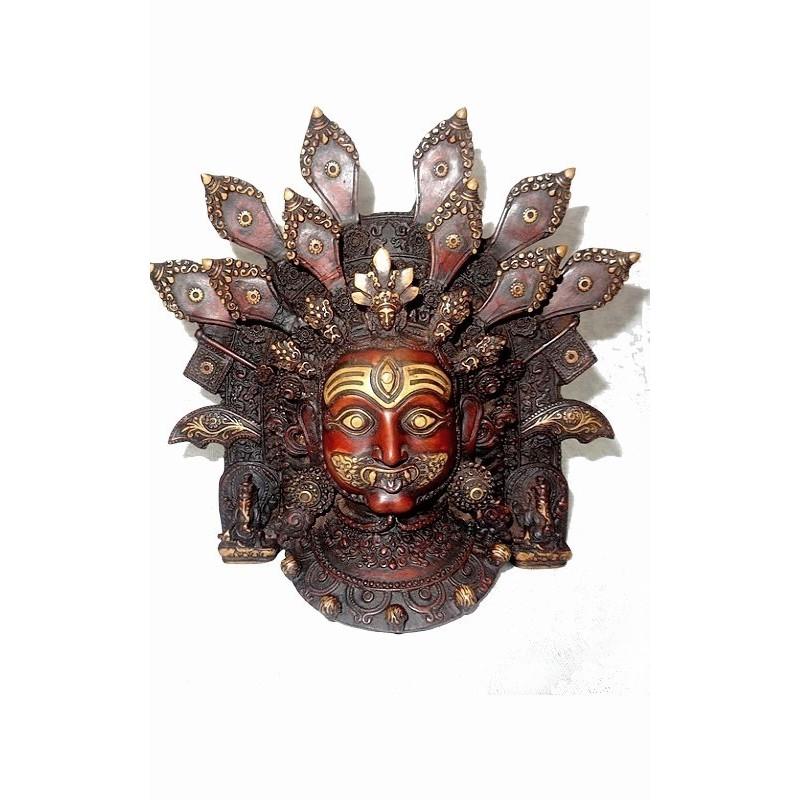 Divinité bouddhiste masque MAHAKALA MAHA1