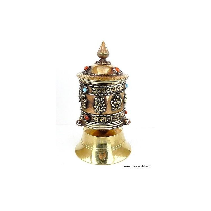 Moulin à prières bouddhiste de table moulin 16
