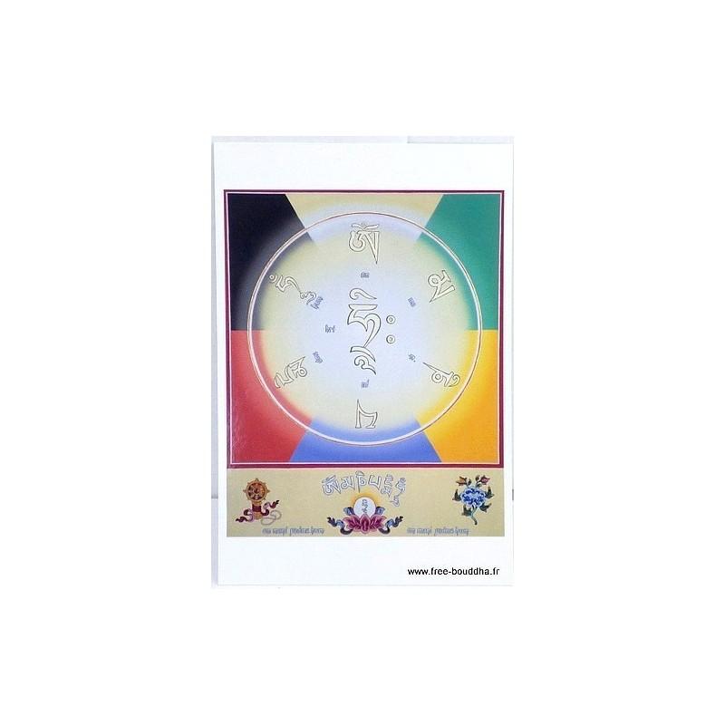 Carte postale bouddhiste MANTRA DE CHENREZI CPB22