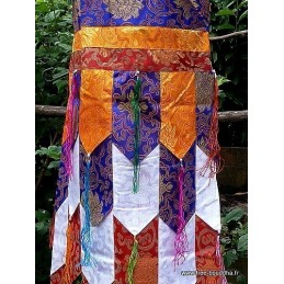 Tenture tibétaine Chukhor bannière Gyaltsen bouddhiste 190 cm CHO4