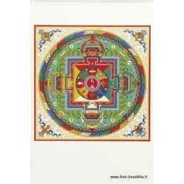 Carte postale bouddhiste MANDALA DE TARA BLANCHE CPB10
