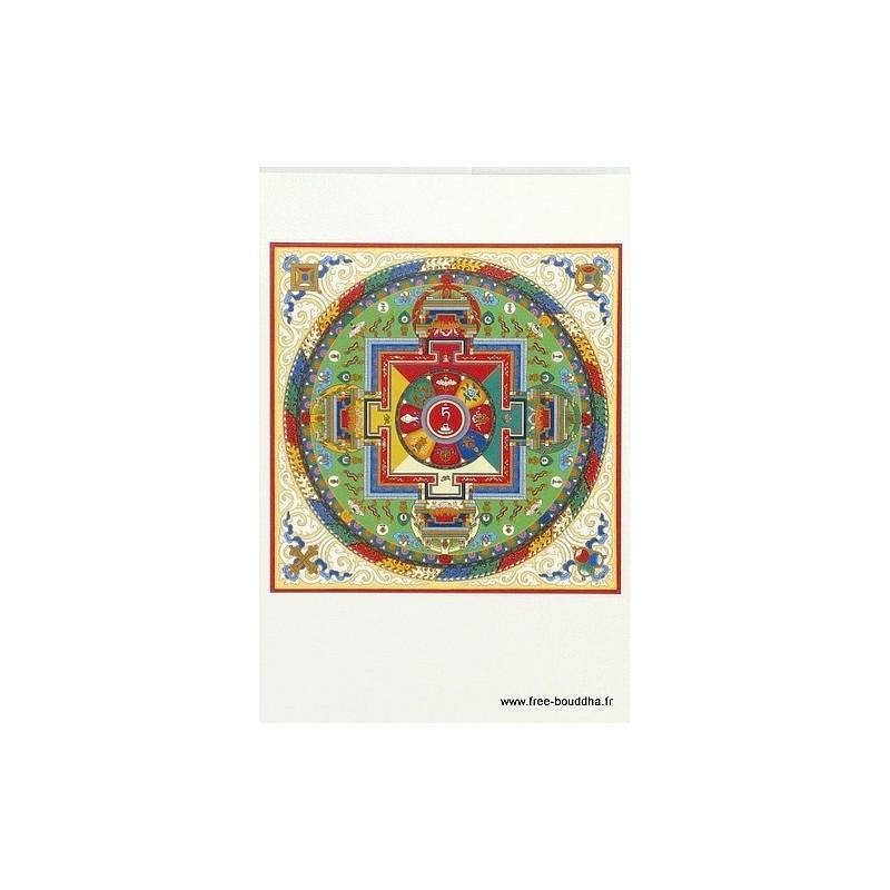 Carte postale bouddhiste MANDALA DE TARA BLANCHE