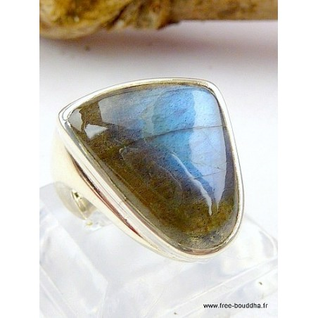 Bague en LABRADORITE T 55 forme triangle