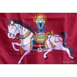 Tenture tibétaine bouddhiste CHEVAL LUNGTA TEN LB14