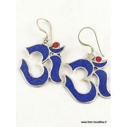 Boucles d'oreilles tibétaines OM ABN7.1
