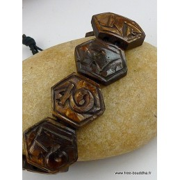 Bracelet tibétain Mantra en os sculpté Bijoux tibetains bouddhistes  WN18